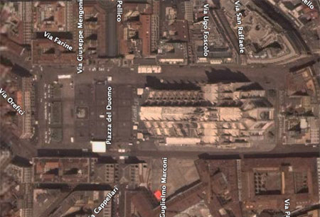 duomo from google earth