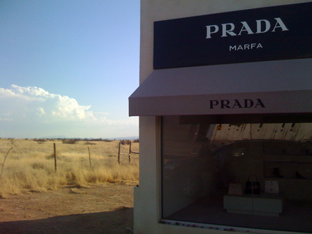 the prada store on the way to marfa